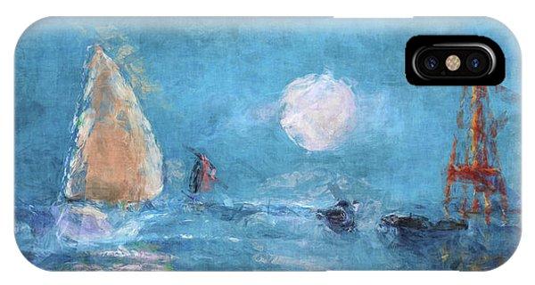 Sailing Under Moon IPhone Case