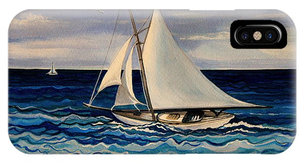 Sailing With The Waves IPhone Case