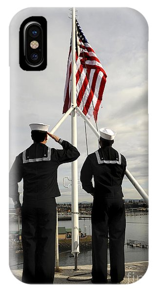 Sailors Raise The National Ensign IPhone Case