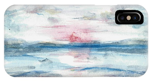 IPhone Case featuring the painting Sailors Warning by Reed Novotny