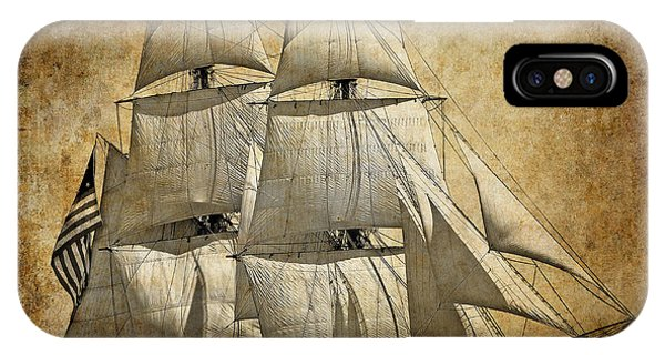 Schooner iPhone Case - Sails Full And By by Daniel Hagerman