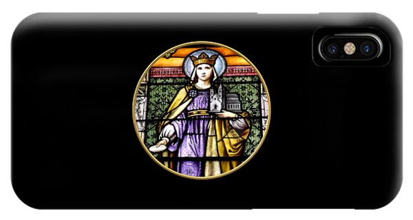 Saint Adelaide Stained Glass Window In The Round IPhone Case