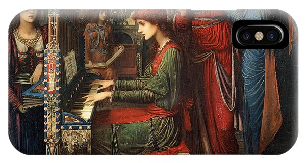 Organ iPhone Case - Saint Cecilia by John Melhuish Strudwick