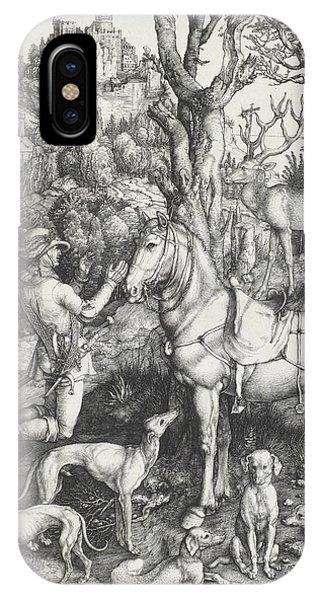 Albrecht Durer iPhone Case - Saint Eustace by Albrecht Durer