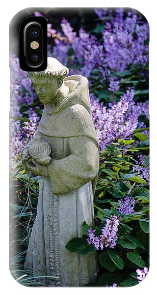 Saint Francis In Lavender IPhone Case