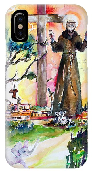 Saint Francis Of Assisi Italy  IPhone Case