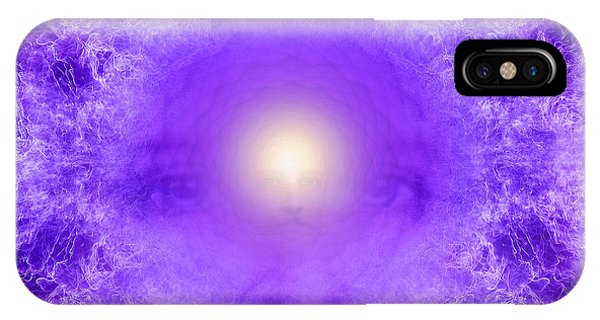 Violet Flame iPhone Case - Saint Germain And The Violet Flame by Robby Donaghey