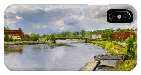 Saint John River Painting IPhone Case
