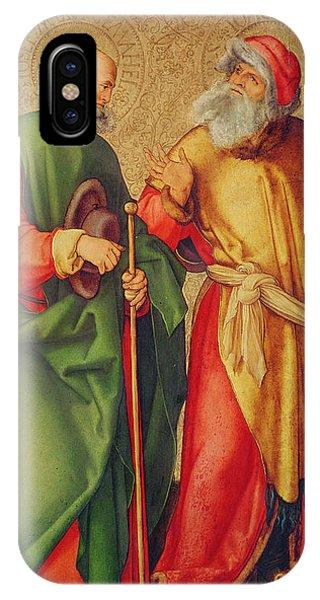Albrecht Durer iPhone Case - Saint Joseph And Saint Joachim by Albrecht Durer or Duerer