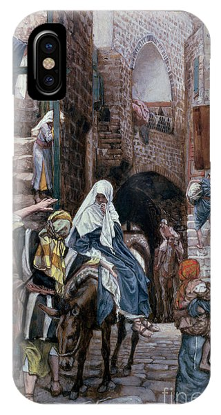 Life Of Christ iPhone Case - Saint Joseph Seeks Lodging In Bethlehem by Tissot