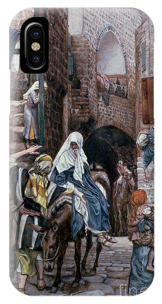 Saint Joseph Seeks Lodging In Bethlehem IPhone Case