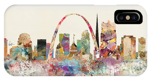 Missouri iPhone Case - Saint Louis Missouri Skyline by Bri Buckley