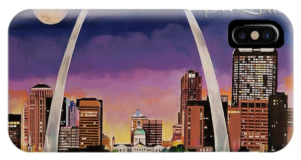 Gateway Arch iPhone Case - Saint Louis Skyline by Bill Dunkley
