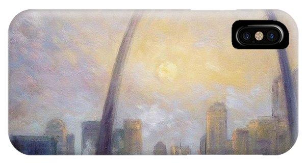 Saint Louis Skyline - Frosty Day IPhone Case