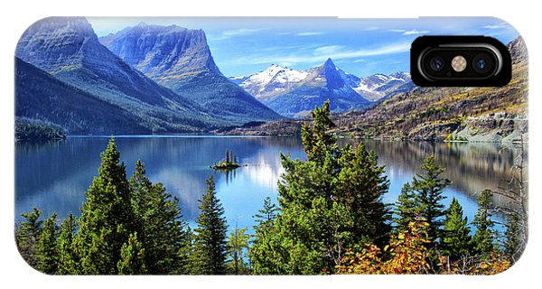 Saint Mary Lake In Glacier National Park IPhone Case