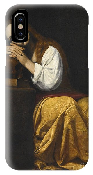 Deep Thought iPhone Case - Saint Mary Magdalene by Giovanni Antonio Galli
