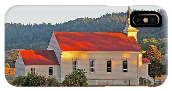 St. Mary's Church At Sunset IPhone Case