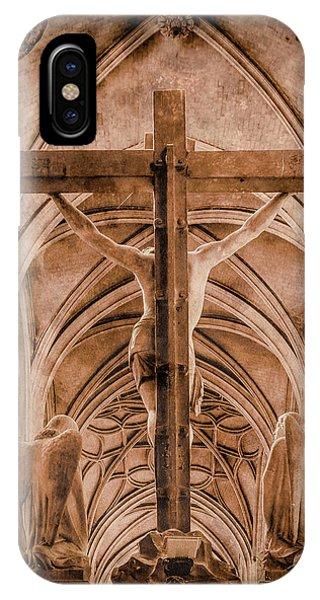 Paris, France - Saint Merri's Cross II IPhone Case