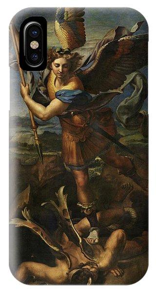 Saint Michael Defeats Satan IPhone Case