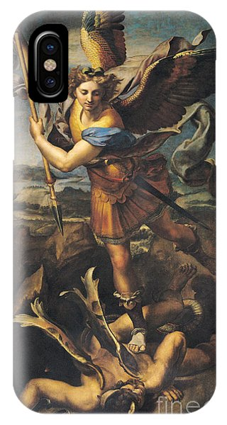 Raphael iPhone Case - Saint Michael Overwhelming The Demon by Raphael