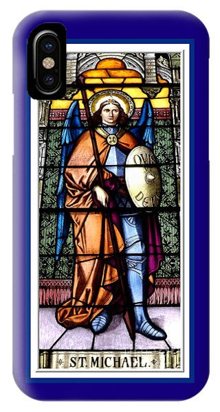 Saint Michael The Archangel Stained Glass Window IPhone Case