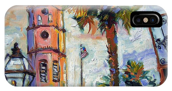 Saint Michaels Church Charleston Sc Oil Painting IPhone Case