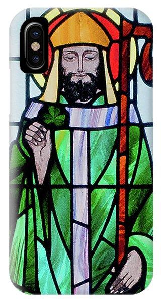 St. Patricks Day iPhone Case - Saint Patrick Window by Ellen Henneke