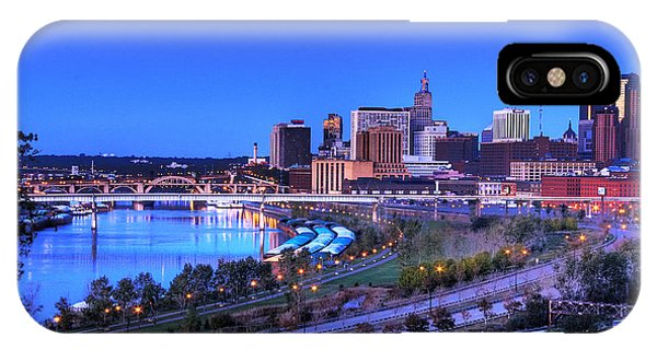 Saint Paul Minnesota Skyline Blue Morning Light IPhone Case