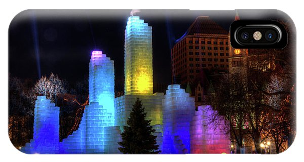 Saint Paul Winter Carnival Ice Palace 2018 Lighting Up The Town IPhone Case