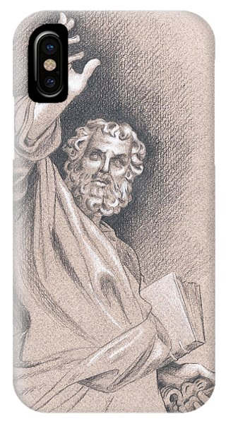IPhone Case featuring the drawing Saint Peter by Joe Winkler