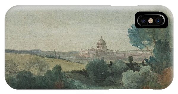 See iPhone Case - Saint Peter's Seen From The Campagna by George Snr Inness