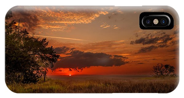 Saint Simons Island Salt Marsh Twilight IPhone Case