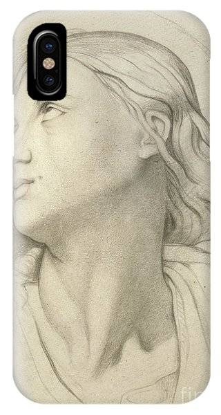 Pastel Pencil iPhone Case - Saint Symphorian After Ingres by Edgar Degas