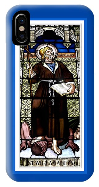 Saint William Of Aquitaine Stained Glass Window IPhone Case