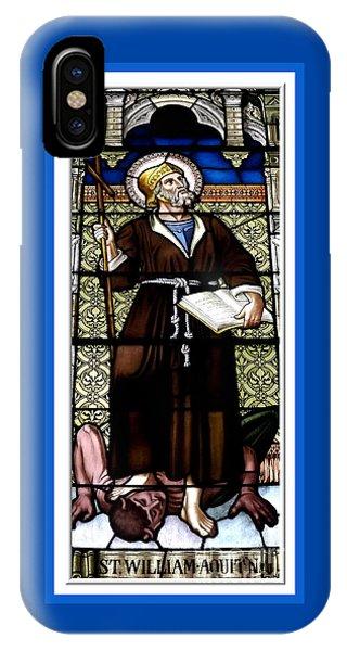 Saint William Of Aquitaine Stained Glass Window IPhone Case