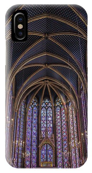 Sainte Chapelle Stained Glass Paris IPhone Case