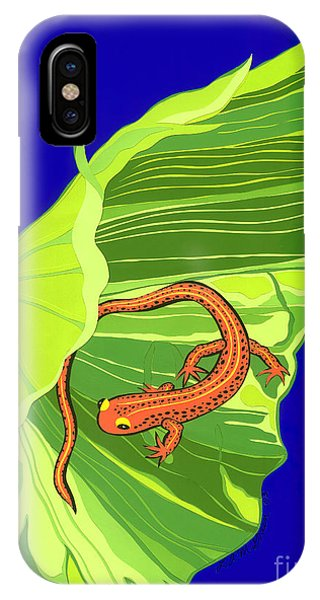 Salamander Phone Case by Lucyna A M Green