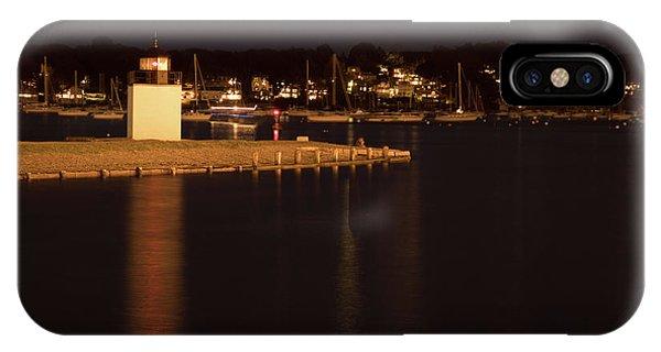 Salem Harbor At Night IPhone Case