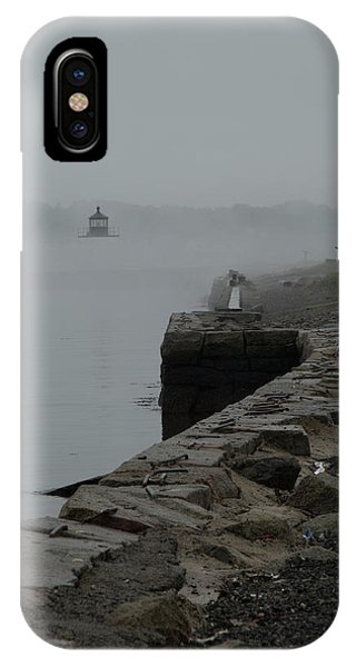 Salem Harbor In Fog IPhone Case