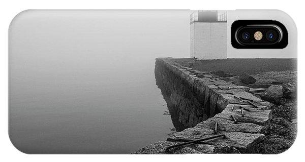 Salem Ma Derby Wharf In Heavy Fog IPhone Case