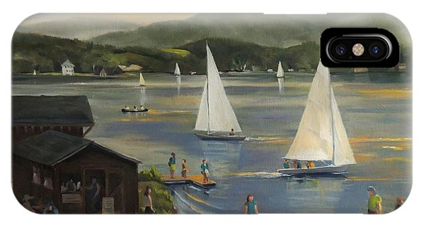 Sailing At Lake Morey Vermont IPhone Case