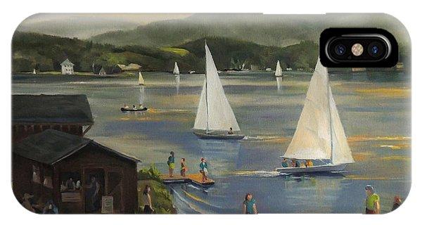 Sailing At Lake Morey Vermont IPhone Case