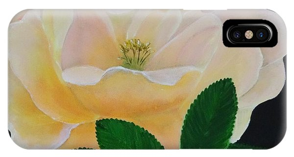 Salmon Pink Rose IPhone Case