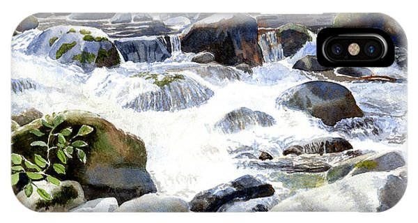 Salmon River Falls And Rocks IPhone Case