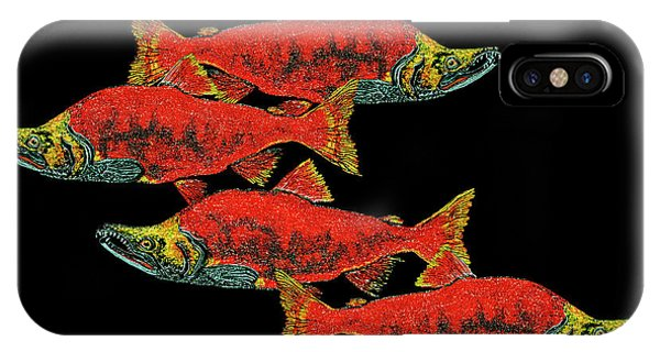 Salmon Season IPhone Case
