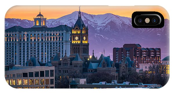 Salt Lake City Hall At Sunset IPhone Case