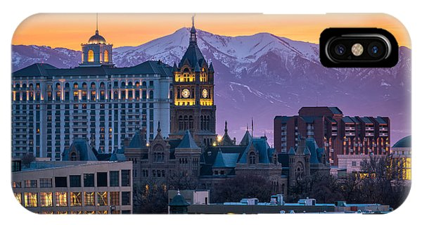 Salt Lake City Hall At Sunset IPhone Case