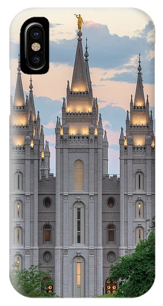 Salt Lake City Temple Morning IPhone Case