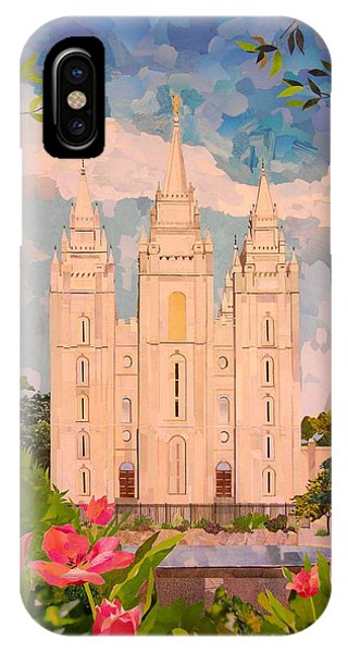 Salt Lake City Temple IPhone Case