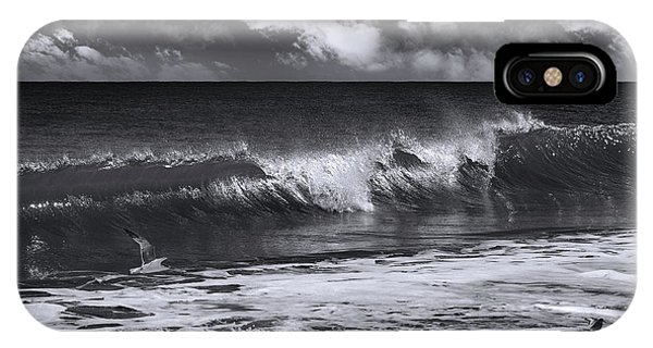 Salt Water iPhone Case - Salt Life Morning Bw by Laura Fasulo